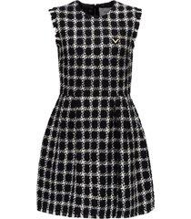 short dress overcheck tweed