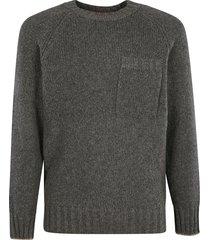 chest pocket knit sweater brunello cucinelli
