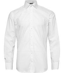 cotton poplin skjorta business vit bosweel