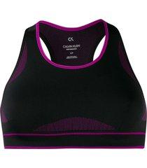 calvin klein underwear racer-back bra top - black
