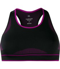 calvin klein underwear racer-back bra top - black
