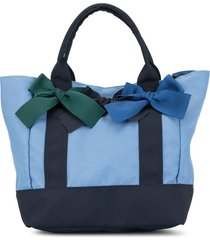 familiar bow handle tote - blue