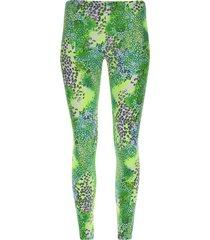 legging sport escamas color verde, talla l