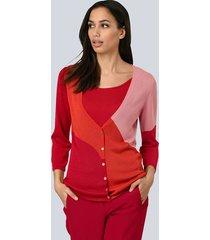 vest alba moda rood::oranje::oudroze