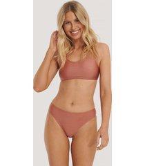 na-kd swimwear sporty bikini briefs - pink