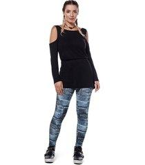legging compression jeans abusy - feminina