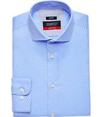 awearness kenneth cole awear-tech blue check slim fit dress shirt