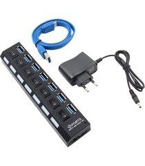 compacta de alta velocidad usb 3.0 hub con 7 puertos independientes co