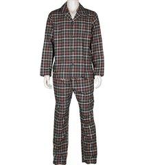 schiesser pyjama ruit flanel met knopen