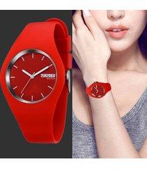 elegante reloj silicona mujer skmei quarzo contra agua