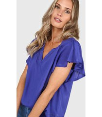 blusa azul donadonna b11selena