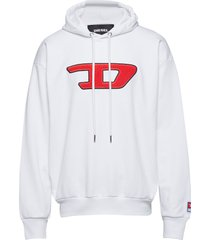 s-division-d sweat-shirt hoodie trui wit diesel men