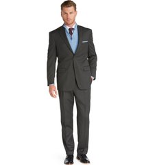 jos. a. bank men's signature collection traditional fit suit - big & tall clearance, dark grey, 52 long