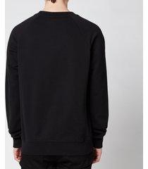 balmain men's printed sweatshirt - black - xxl