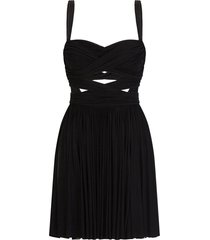 dolce & gabbana crossed over short dress - black