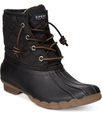 sperry women's saltwater quilted duck booties women's shoes
