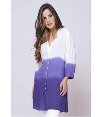 camisão sob tie dye degrade índigo viscose feminino