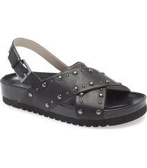 women's sanctuary tempo sandal, size 7 m - black