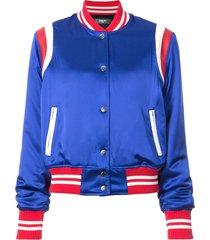 amiri varsity baseball jacket - blue