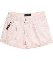 cotton twill pink shorts for woman