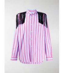 comme des garçons homme plus striped print shirt