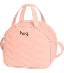 bolsa maternidade hug baby média linha chevron rosa - kanui