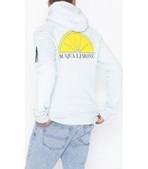 acqua limone hood sweat tröjor ice blue