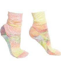 rainbow tie-dye velvet socks