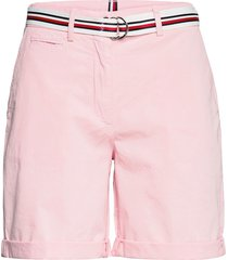 cotton tencel chino rw short shorts chino shorts rosa tommy hilfiger