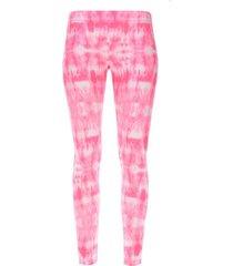 leggings deportivo difuminado color rosado, talla l