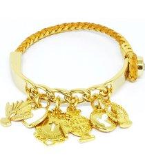 pulseira alice monteiro ping. religiosos dourado.