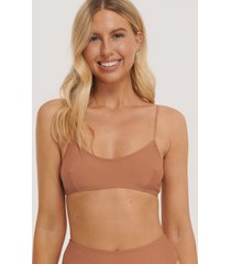 na-kd swimwear clean cut bikini bra - brown,copper
