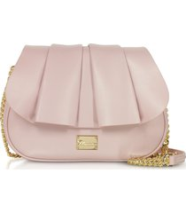 blumarine karen light pink leather shoulder bag