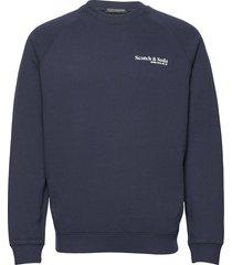 classic crewneck in organic cotton sweat-shirt trui blauw scotch & soda