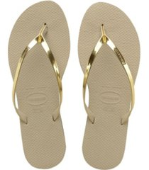havaianas women's you metallic flip flop sandals women's shoes