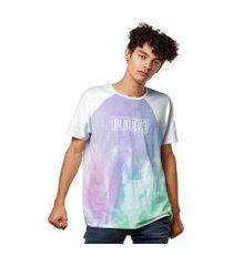 camiseta aurora boreal night fashion masculina