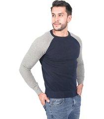 suéter para hombre negro gris