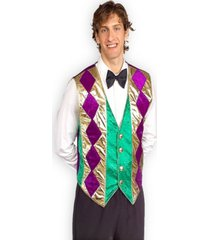 buyseasons men's mardi gras vest costume