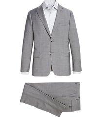 calvin klein light gray skinny fit suit