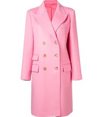 ermanno scervino structured coat - pink