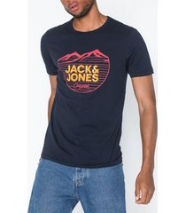 jack & jones jordenvers tee ss crew neck t-shirts & linnen mörk blå