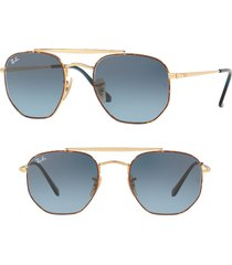 ray-ban 54mm gradient sunglasses in matte blue gradient at nordstrom