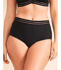 icon cara black high waisted shaping bikini bottom