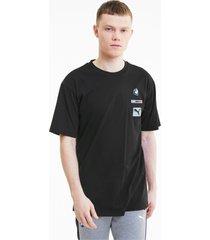 bmw m motorsport street t-shirt voor heren, zwart, maat l   puma