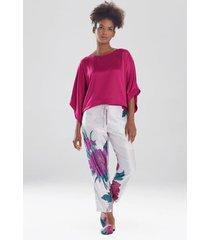 natori jubako pants pajamas / sleepwear / loungewear, women's, silver, size xl natori