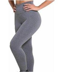 kit com 3 calça leggings cós alto feminina