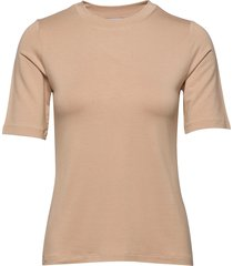 chambers top t-shirts & tops short-sleeved beige stylein