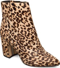 hilty shoes boots ankle boots ankle boot - heel brun sam edelman