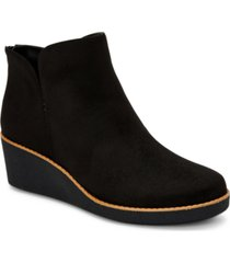 style & co jarodd crepe wedge booties, created for macy's women's shoes