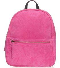 mochila em couro rosa pink